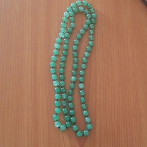 Bohemian Green Knotted Statement Necklace